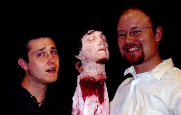 David and Brendan with Brendan's head.