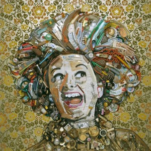 Phyllis Diller gold by Jason Mecier