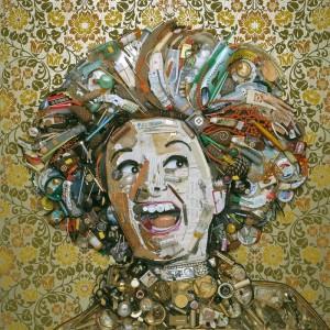 Phyllis Diller gold by Jason Mecier