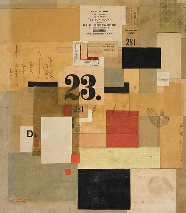 Mz 601 by Kurt Schwitters