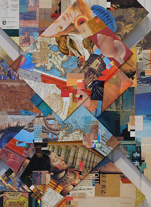 detail from 'Diamonds in the Rough' ~ a collage construction by John Andrew Dixon, Danville, Kentucky