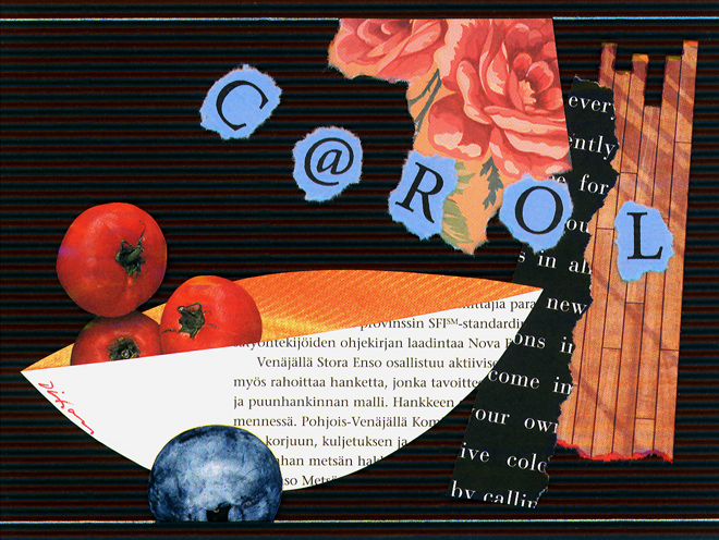 a collage greeting by J A Dixon