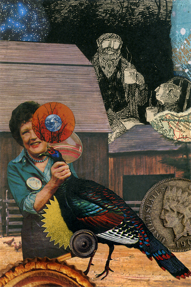 collaborative collage by Michael Tunk and John Andrew Dixon