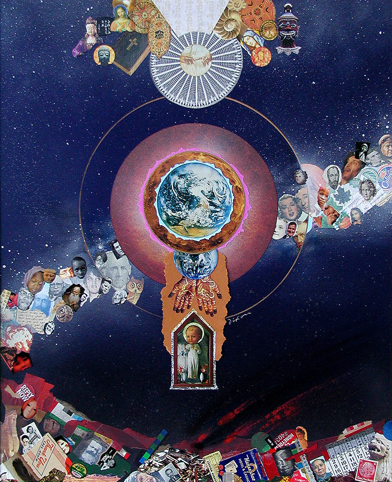 Fifteenth Cosmosaic ~ a mixed-media collage by J A Dixon