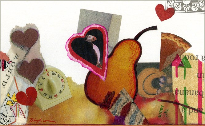 a collage greeting card by John Andrew Dixon