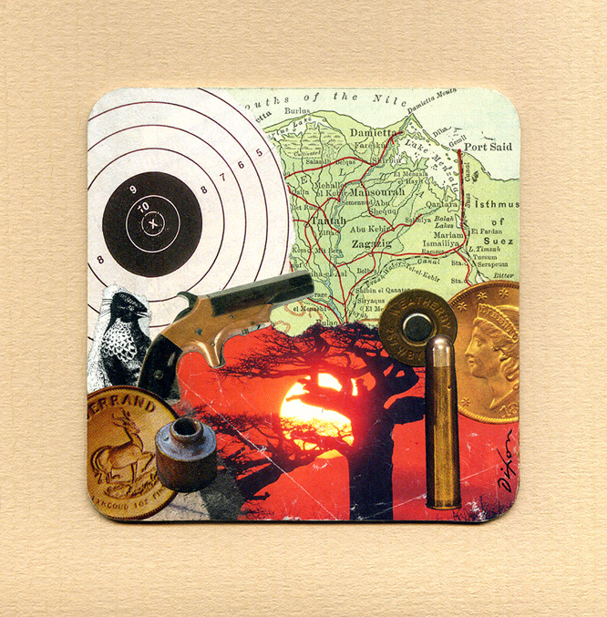 Molten Sky, Spotter's Cry ~ John Andrew Dixon, collage artist, Danville, Kentucky