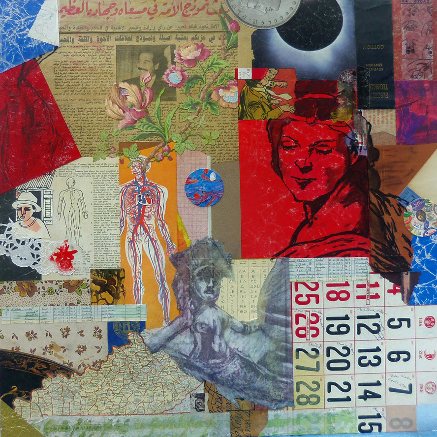 finish by Robert Hugh Hunt for Kentucky Modonna ~ a collaboration with John Andrew Dixon ~ collage on structured panel