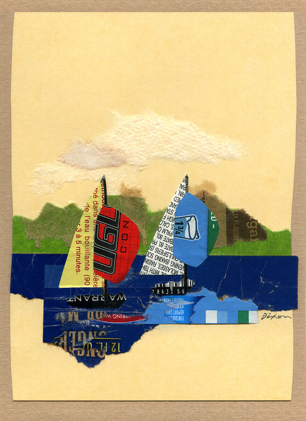 a hand-crafted 33rd anniversary card by John Andrew Dixon for his wife, Dana