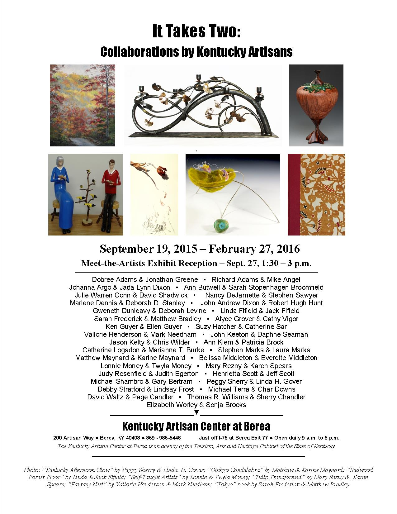 John Andrew Dixon ~ It Takes Two ~ Collaborations by Kentucky Artisans ~ Kentucky Artisan Center at Berea ~ September 19, 2015 to February 27, 2016