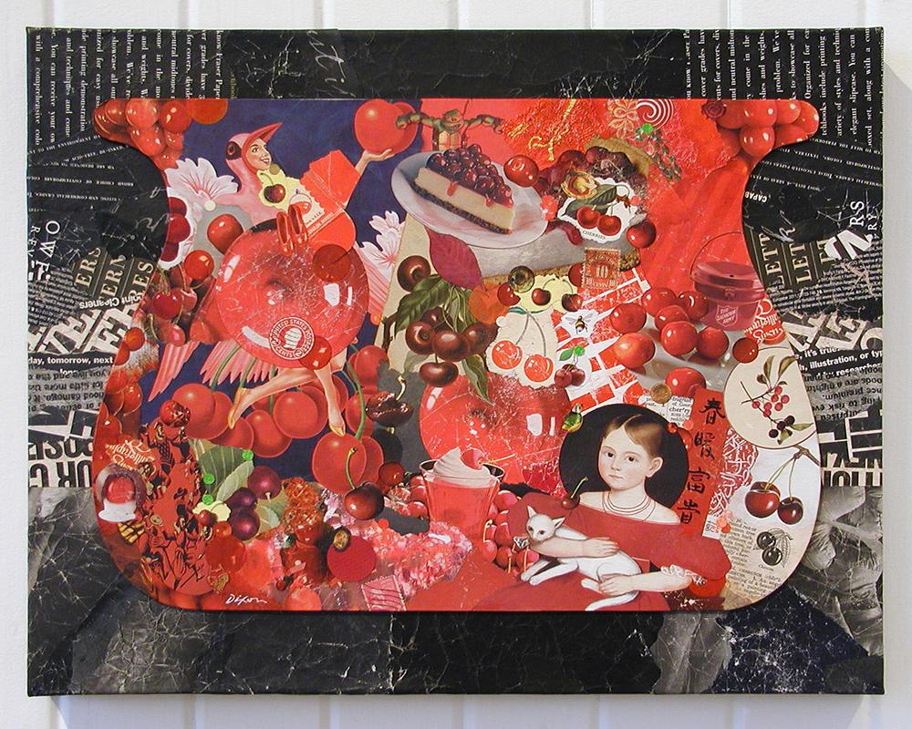 Cherry Balm ~ John Andrew Dixon, collage artist, Danville, Kentucky