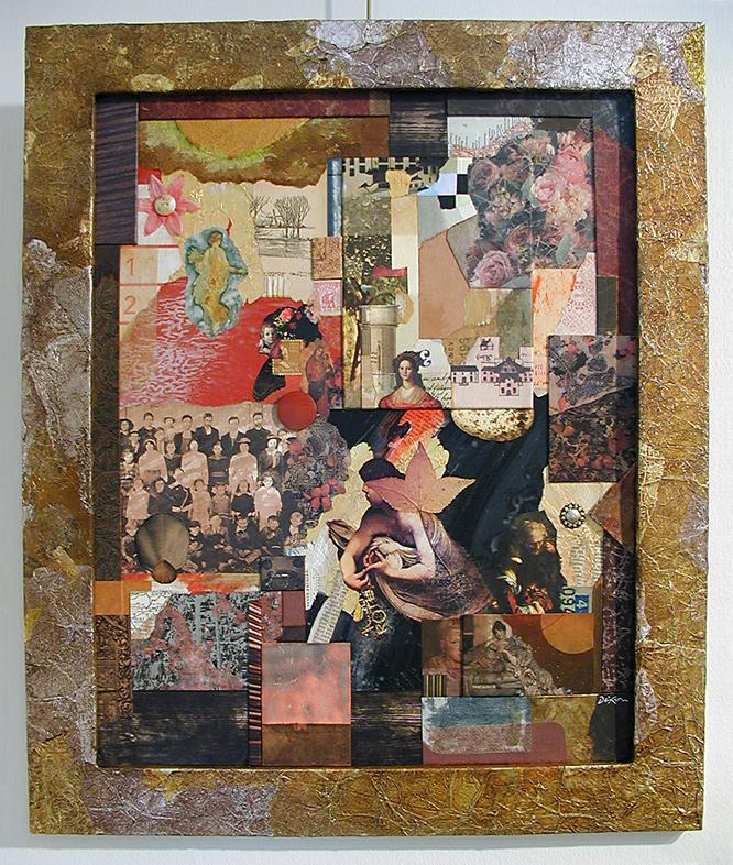 Reliquia ~ John Andrew Dixon, collage artist, Danville, Kentucky