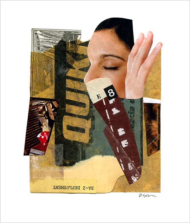 Untitled (E 8 SA-2 DEPLOYMENT) ~ John Andrew Dixon, collage artist, blogger on all things collage