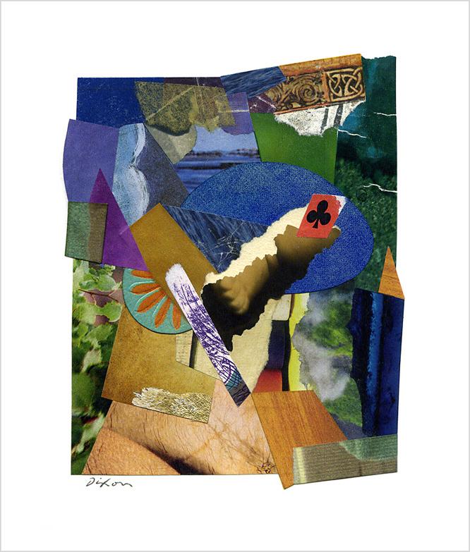 Untitled (♣) ~ John Andrew Dixon, collage artist, Danville, Kentucky