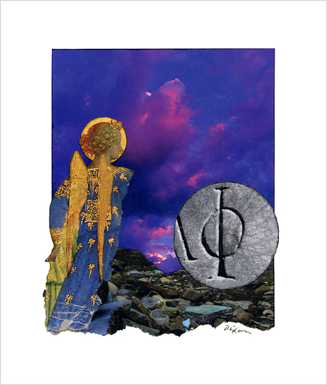 Untitled (Φ) by J A Dixon ~ an Easter collage experiment