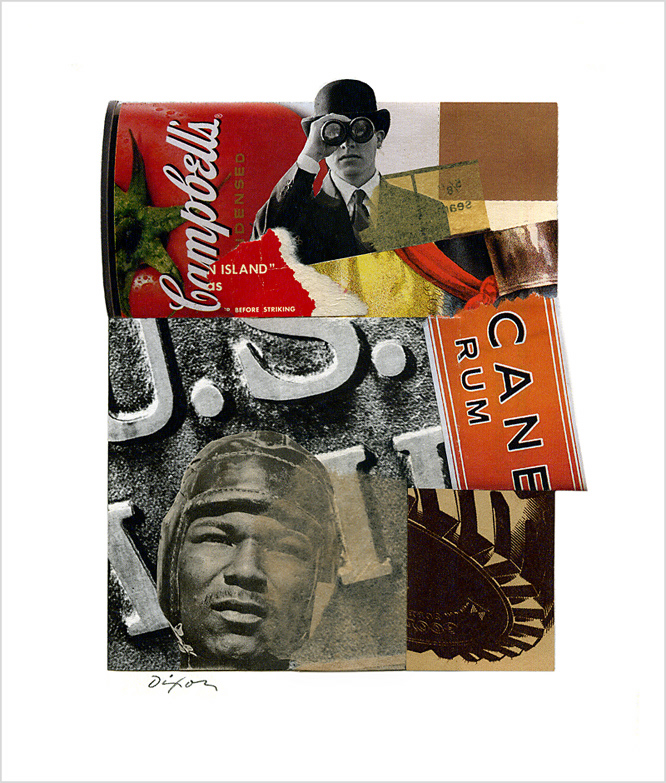 Untitled (Campbell's CANE RUM) by J A Dixon ~ an Easter collage experiment