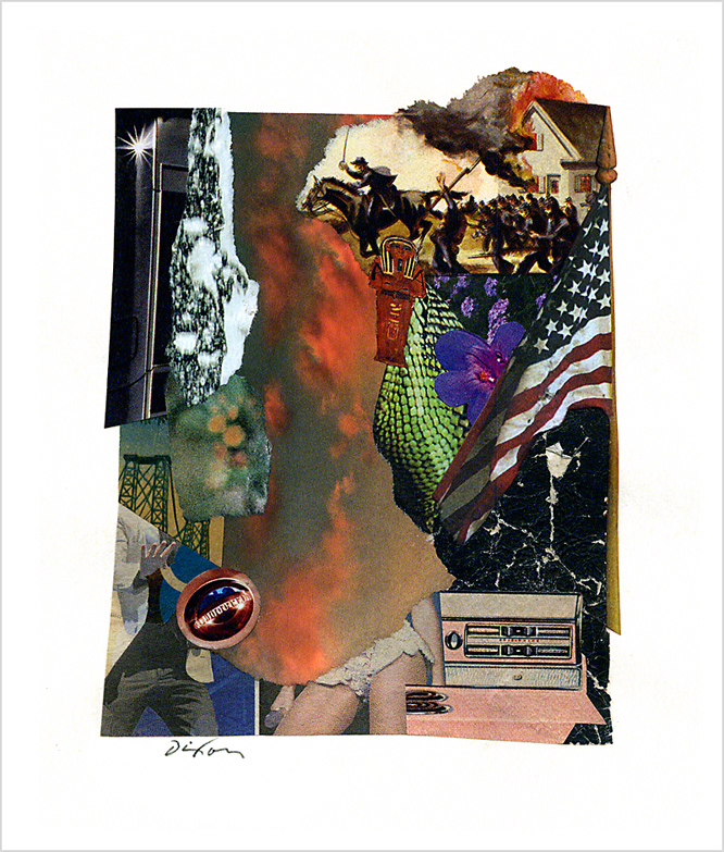 Untitled (★) ~ John Andrew Dixon, collage artist, Danville, Kentucky