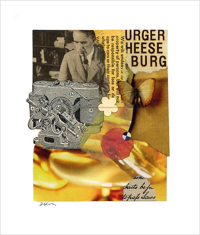 Untitled (URGER HEESE BURG) ~ J A Dixon