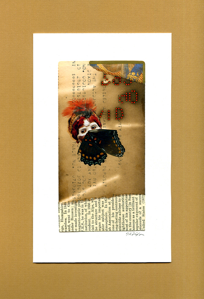 Untitled (Gille) ~ a collage miniature by John Andrew Dixon, Danville, Kentucky