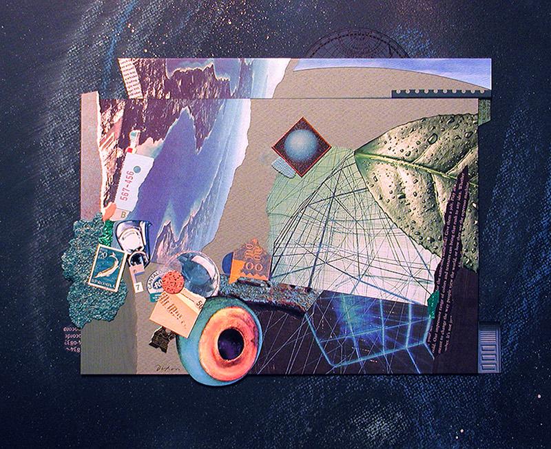 Merz de la Mer ~ a collage with mixed media by John Andrew Dixon