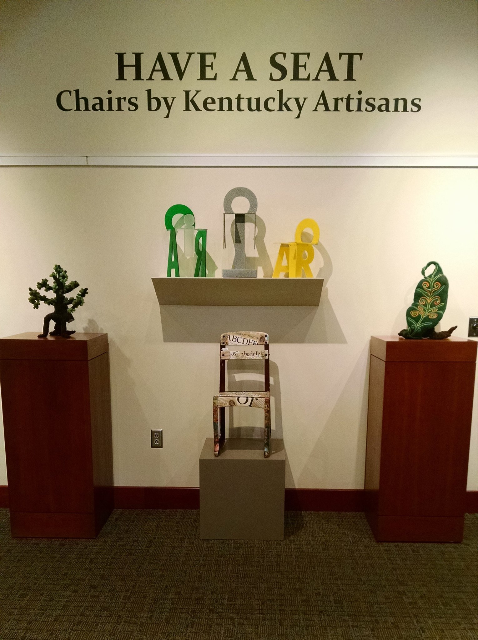 Have a Seat: Chairs by Kentucky Artisans ~ includes a repurposed vintage classroom chair by John Andrew Dixon of Danville, Kentucky