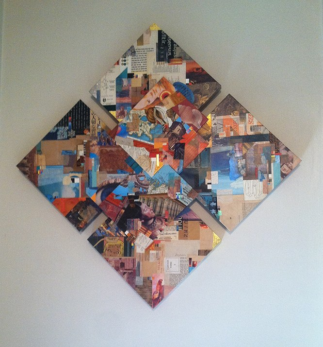 Diamonds in the Rough ~ a collage construction by John Andrew Dixon, Danville, Kentucky