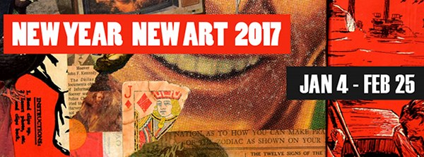 the 2017 NEW YEAR NEW ART exhibition ~ Community Arts Center, Danville, Kentucky