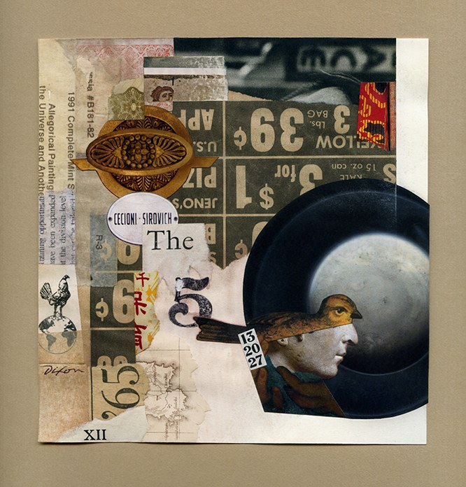 Tangata Manu: Theory of Zeal ~ a collage experiment on paper by John Andrew Dixon