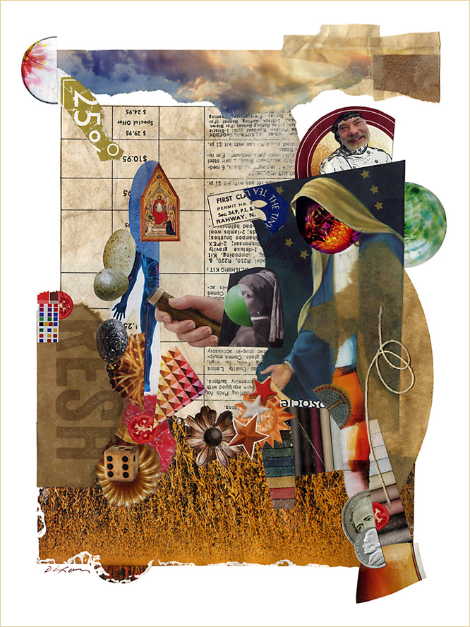 Untitled (first cause) ~ a collage miniature by John Andrew Dixon, Danville, Kentucky