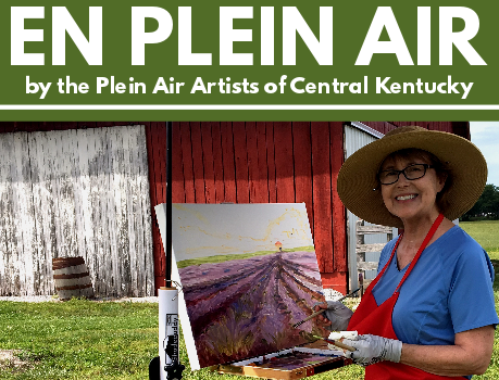 En Plein Air ~ an exhibition at the Community Arts Center, Danville, Kentucky ~ with collage miniatures by John Andrew Dixon and the Plein Air Artists of Central Kentucky