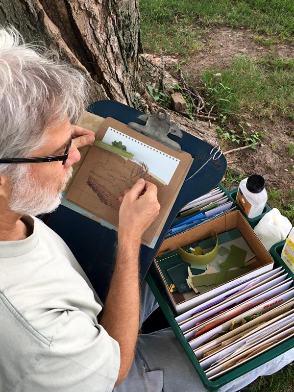 John Andrew Dixon ~ plein air collage artist