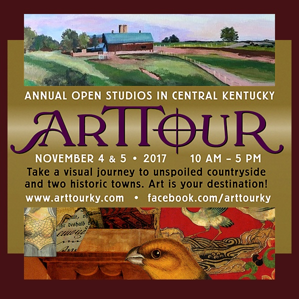 ARTTOUR ~ Annual Open Studios in Central Kentucky ~ first weekend in November!