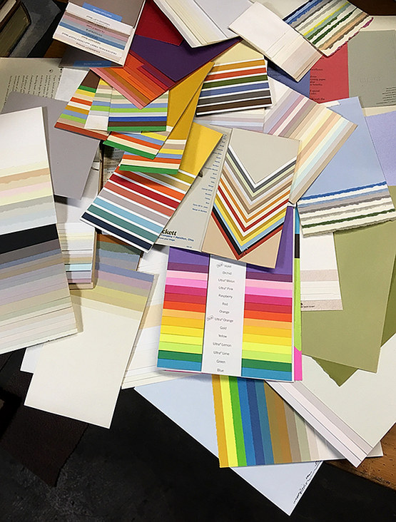 stash of premium paper samples