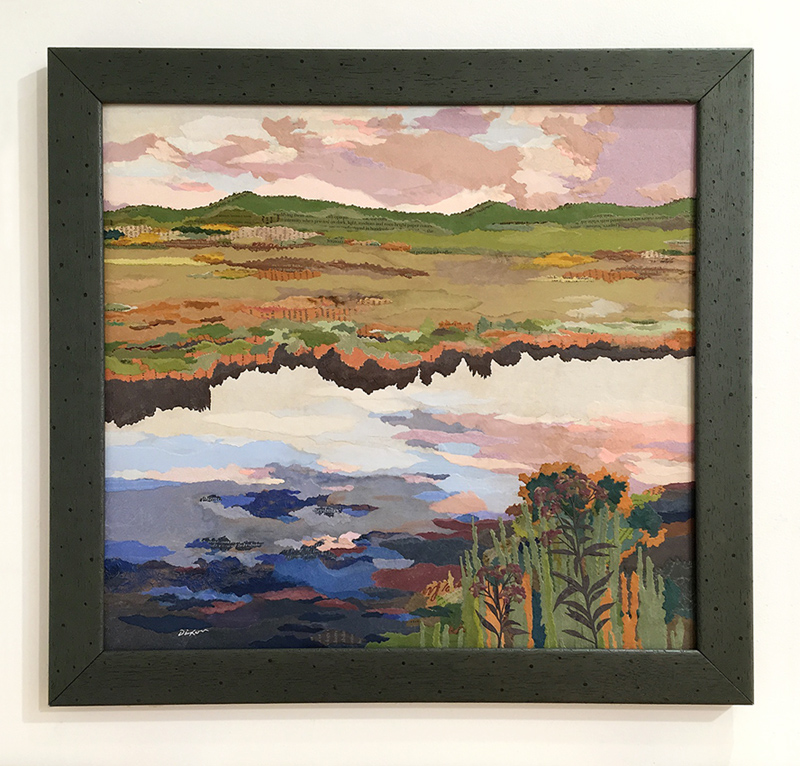 Wetland ~ collage landscape by John Andrew Dixon, Danville, Kentucky