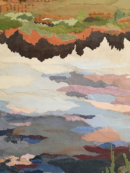 details of Wetland ~ a collage landscape by John Andrew Dixon