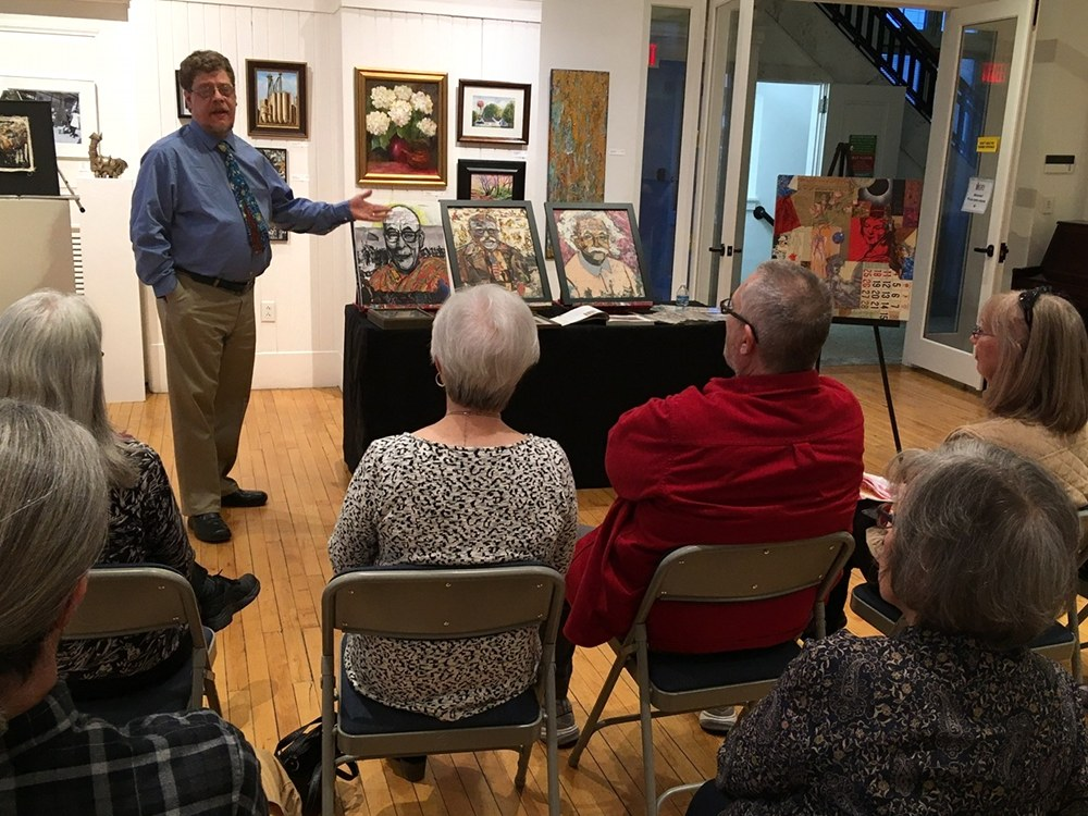 R H Hunt gallery talk at the Community Arts Center in downtown Danville, Kentucky