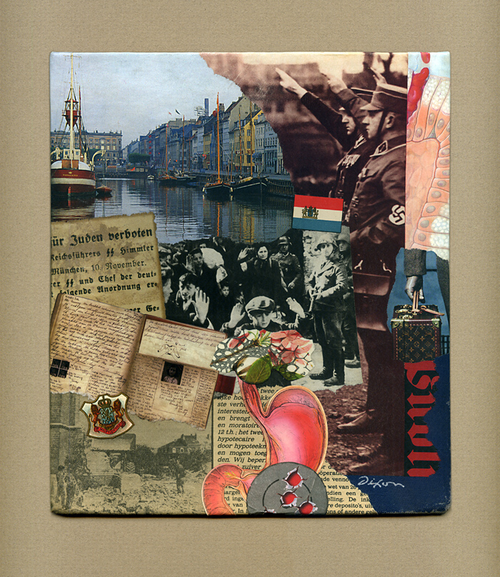 Mr. Kraler's Distress ~ collage miniature by John Andrew Dixon ~ Danville, Kentucky