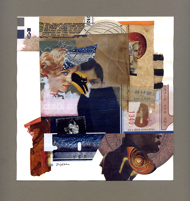 1340: Discreet Curiosities ~ a collage experiment on paper by John Andrew Dixon