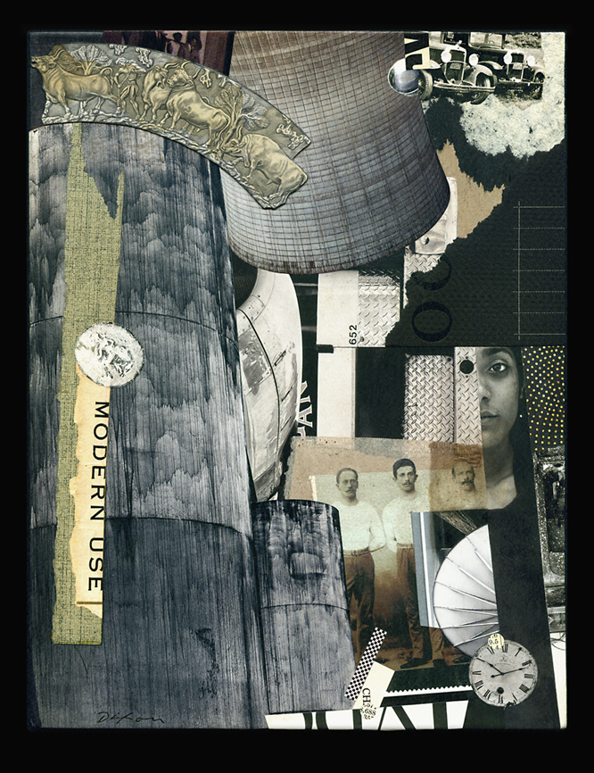 Modern Use ~ collage miniature by John Andrew Dixon ~ Danville, Kentucky ~ Kentucky Crafted Mixed Media Artist
